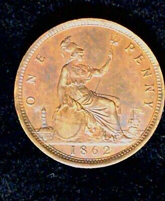 Great Britain Penny 1862 - very good condition, die clash