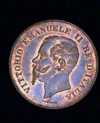 Italy 1862 N 5 Centesimi 5 Cents - great condition, die clash