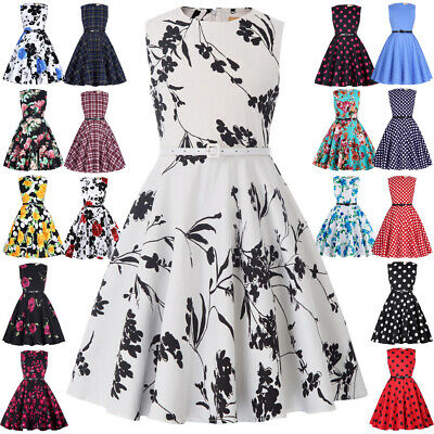KK Children Girls Kids Crew Neck A Line Dress Lovely Elegant Princess Dresses
