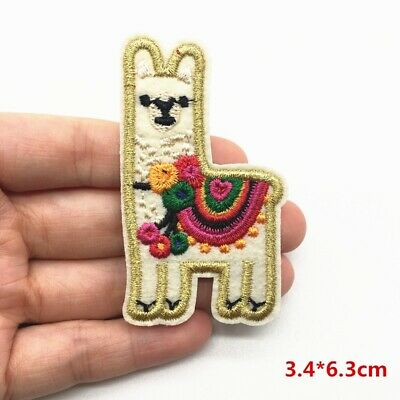 Llama Alpaca Iron On Patch Badge Embroidery Cute Animal Kids Clothes Sticker