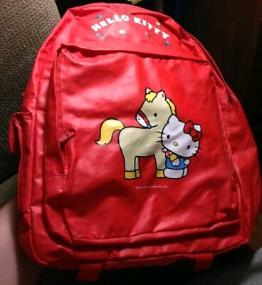 Vintage (1985)Hello Kitty & Horse Backpack SANRIO RARE 80's