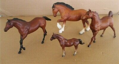 Lot of 4 Vintage Breyer Horses Preowned