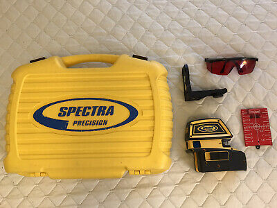 Spectra Precision Laser Level LT52 with Target, Mount, Safety Glasses and Case