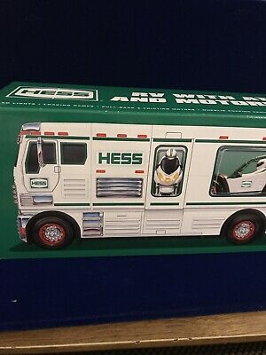 Hess 2018 Toy Truck RV with ATV and Motorbike