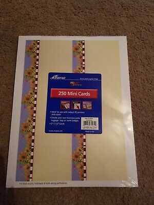 Ampad 250 Mini Cards Sunflower PC Papers