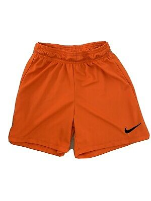 Boys / Girls orange Nike Dri Fit  Football Shorts 10-12 Years / Med ⭐️GC⭐️