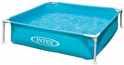 Intex Kinderpool Frame Pool Mini, Blau, 122 x 122 x 30 cm NEU