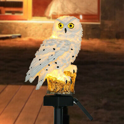 LED Garden Owl Solar Lights Patio Yard Lawn Waterproof Stake Lamp Party Decor
