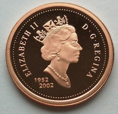 *** Canada  One  Cent  2002  ***  Proof  Heavy  Cameo  ***  Non  Magnetic  ***