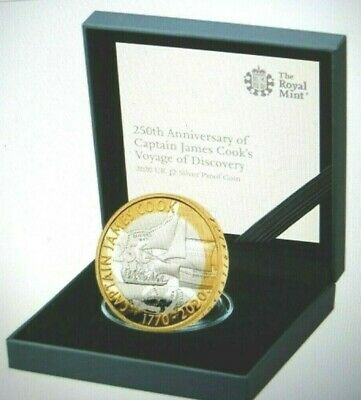 2020 Captain Cook Stirling Silver Proof UK £2 Coin Ltd Edition CoA#2550&3305
