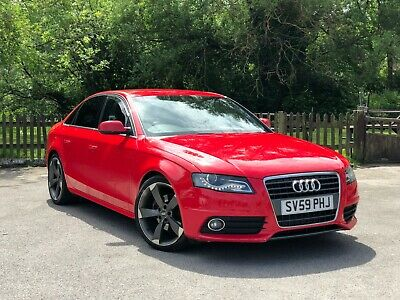 ** Audi A4 2.0 TDI S Line ** 6 Speed Manual ** Red ** Black Edition Alloys **