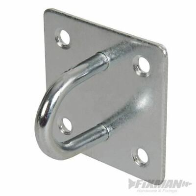 50mm x 50mm 4 Galvanised 8mm Ring Hook on Square Plates