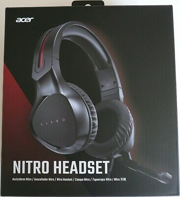 ACER NITRO GAMING Headset Black *NEW MINT CONDITION* FOR