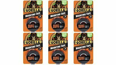 Gorilla Heavy Duty Double Sided Mounting Tape, 1 Inch x 60 Inches, Black(Pack...