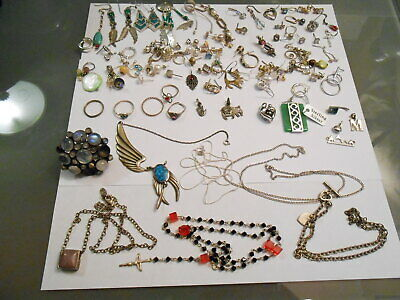 Large Lot Of Sterling Jewelry / Scrap, Or Not.