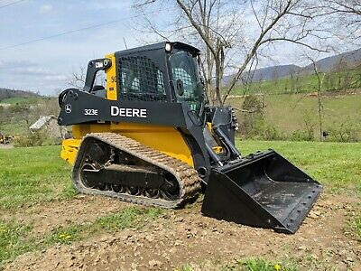 2014 Deere 323E Compact Rubber Track Skid Loader Construction Hydraulic Machine