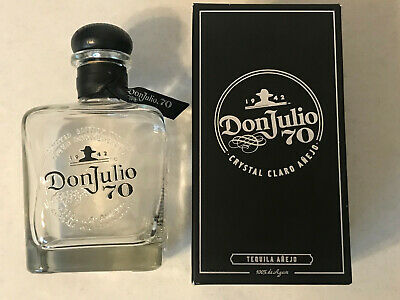 "Don Julio 70Th Anniversary Anejo Tequila 750Ml Empty Bottle 3.75"" X 3.75 X 7.5"""