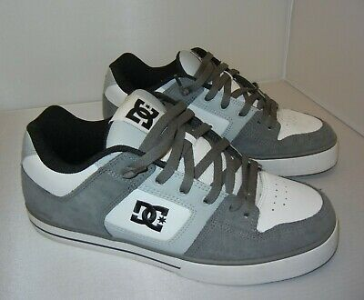 LN Mens size 11.5 DC SHOES Pure 300660 White/Gray SKATE Sneakers Athletic 11 1/2