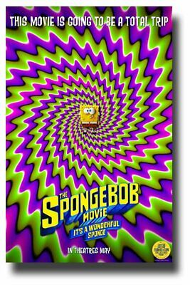 SpongeBob Poster Movie 11 x 17 inches Trippy