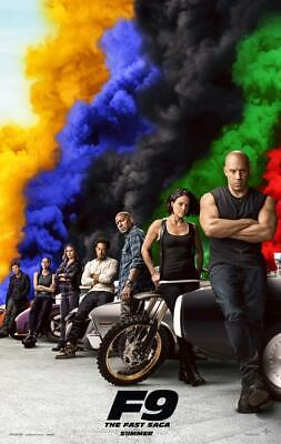F9 Poster Movie 11 x 17 inches Fast Furious Smoke