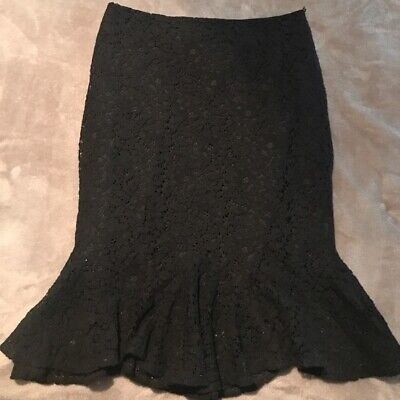 Mermaid Wiggle Skirt SMALL black Lace Pinup Girl Modcloth Couture