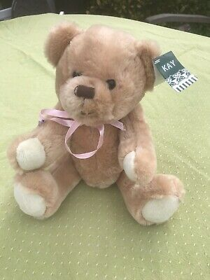 """Teddy Bear Plush 14"""" Kay Soft Toy Jointed Arms & Legs.  Cute Gift For Children"""