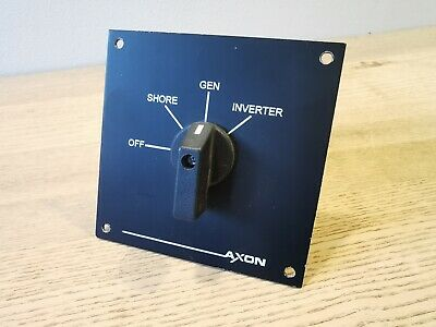 Axon 4 Position Switch/ Changeover Panel - 20 amps - Shore/ Generator/ Inverter