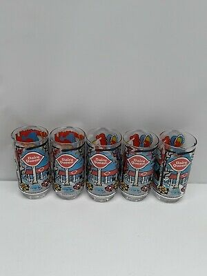 Vtg Set of 5 Dairy Queen DQ Collector Series Cartoon Drinking Glasses 1976