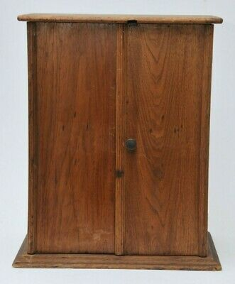 ANTIQUE SMALL COUNTRY PRIMITIVE CABINET or MEDICINE CHEST