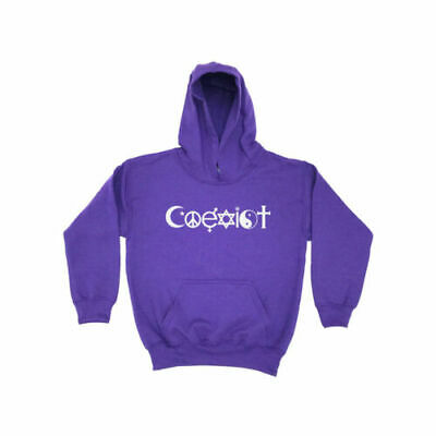Coexist KIDS Hoodie Star sign Hippy Symbols Witchcraft