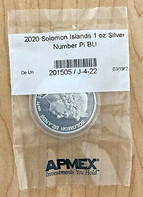2020 Solomon Islands 1oz Silver Number Pi Coin (π = 3.14) BU Minted 5,000 SEALED