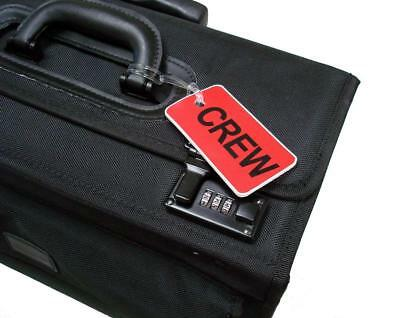 GelFlex Double Sided Airline Crew Bag Tag - Red