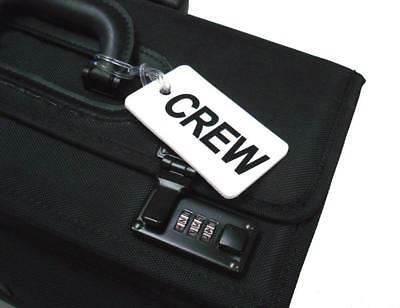 GelFlex Double Sided Airline Crew Bag Tag - White