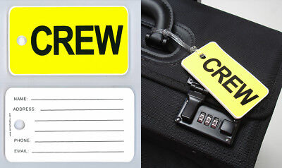 GelFlex Double Sided Airline Crew Bag Tag - Yellow