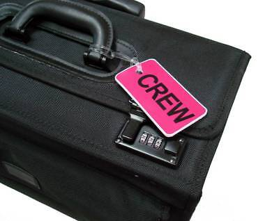 GelFlex Double Sided Airline Crew Bag Tag - Pink