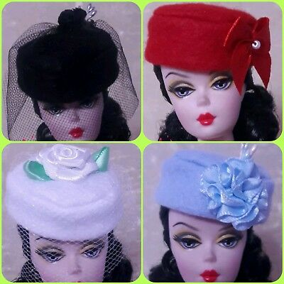 FITS Only Barbie Silkstone Reproduction Vintage Doll HANDMADE Clothes Dress Hat