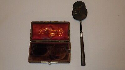 Antique Eye Doc Loring Ophthalmoscope Ophthalmologist E.B. Meyrowitz in Case