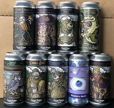 mixed GREAT NOTION can LOT ('Empty' Cans) Monkish Trillium Treehouse Angry Chair