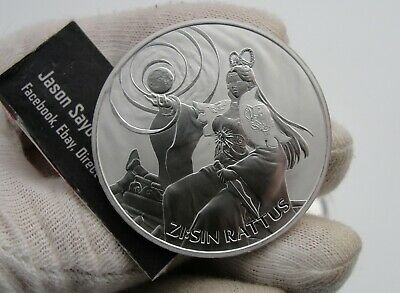 2020 South Korea ZI:SIN RATTUS 1 Ounce .999 Silver Mintage Of Only 22k capsule