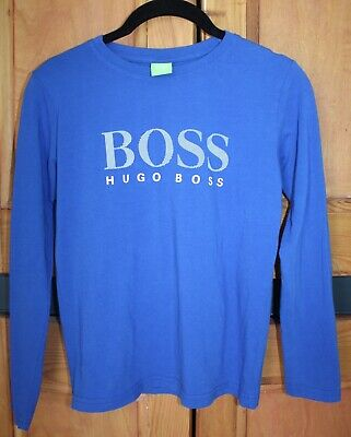 Boys HUGO BOSS Authentic Long Sleeve Jersey Top Age 7 - 8