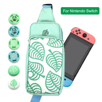 Animal Crossing Carrying Case Shoulder Bag For Nintendo Switch / Lite With Caps
