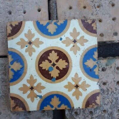Victorian Glazed Encaustic Tiles by Minton