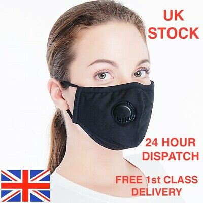 Washable Reusable Cotton Fabric Face Mask & PM2.5 Filters  - UK STOCK
