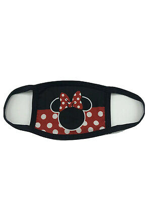 Disney Minnie Mouse Style Red Polka Dot FACE MASK Reusable - Washable - USA