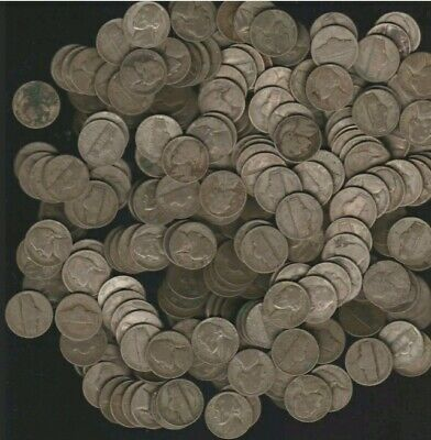 Full Roll Quantity (40) 1942-1945 Jefferson War Nickels - 35% Silver