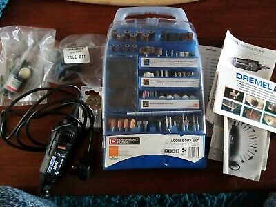 Genuine 125W Dremel Rotary Multi Tool Mini Drill Set  Hobby + lots accessories