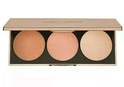 NUDE BY NATURE Highlight Palette 3 x 3g/3 x 0.11oz BRAND NEW RRP: $39.95