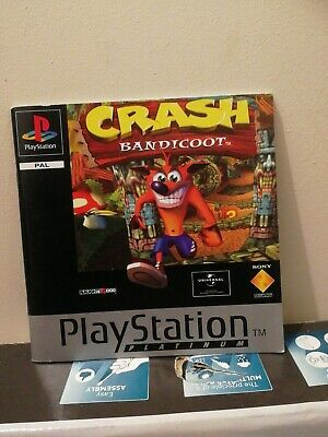 Ps1 Crash Bandicoot Platinum Instruction Manual Only ** Not The Game**