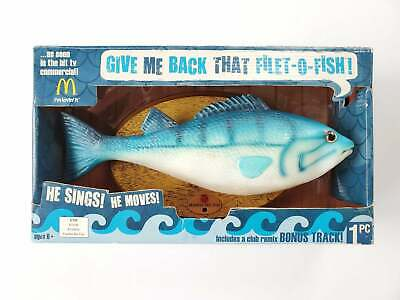 McDonalds Frankie the Fish Talking Singing Mounted Filet of Fish Gemmy in Box
