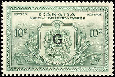 Canada Mint NH 1950 VF 10c Overprinted OHMS Scott #EO2 Special Delivery Stamp